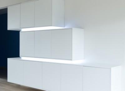 wandkast met LEDlicht